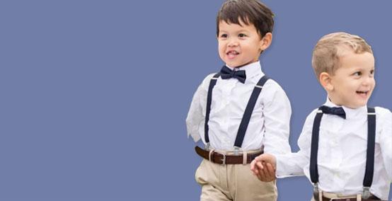 Hosenträger und Fliegen für Kinder