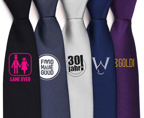 Krawatten mit Logo oder Text