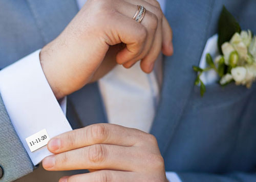 manchetknopen graveren bruiloft