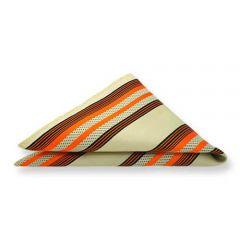 Einstecktuch orange beige braun Streifen