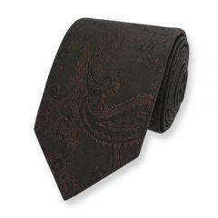 Krawatte Paisley braun