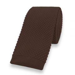gestrickte Krawatte braun einfarbig