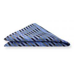 Einstecktuch blau silber gestreift
