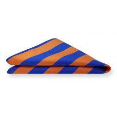 Einstecktuch orange blau gestreift