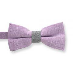Fliege lila grau für Herren