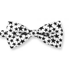 Fliege weiß schwarz Sternen