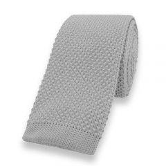 gestrickte Krawatte grau einfarbig