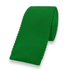 gestrickte Krawatte grün einfarbig