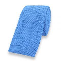 gestrickte Krawatte hellblau einfarbig