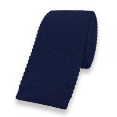 gestrickte Krawatte marineblaue einfarbig