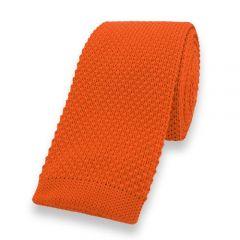 gestrickte Krawatte orange einfarbig