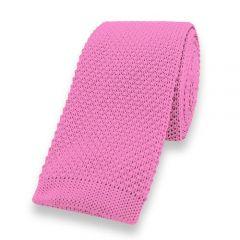 gestrickte Krawatte rosa einfarbig