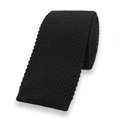 gestrickte Krawatte schwarz einfarbig