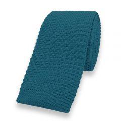 gestrickte Krawatte petrol einfarbig