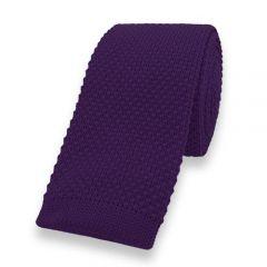 gestrickte Krawatte dunkelviolett einfarbig