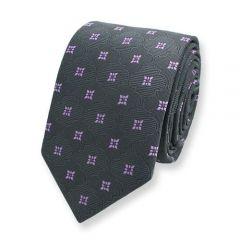 Krawatte lila graphit