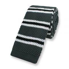gestrickte Krawatte graphit gestreift
