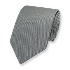 Seiden Krawatte silber grau