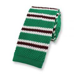 Gestrickte Krawatte grün gestreift