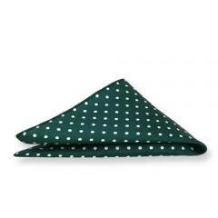 Einstecktuch grün gepunktet