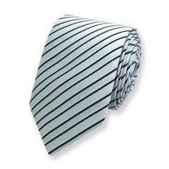 Krawatte gestreift grau schwarz