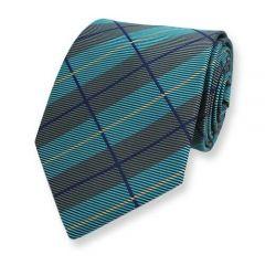 Krawatte minze graphit kariert