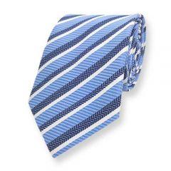 Krawatte Babyblau Gestreift