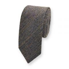 Baumwolle Krawatte dunkelgrau braun