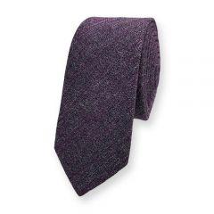 Baumwolle Krawatte dunkelviolett