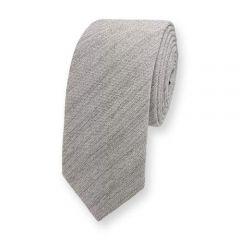 Baumwolle Krawatte hellgrau