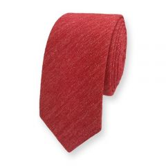 Krawatte Baumwolle korallrot