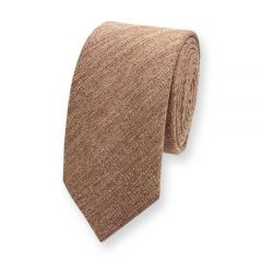 Baumwolle Krawatte Sandbraun