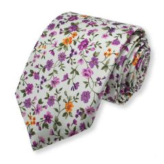 Krawatte violette Blumen