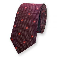 Krawatte dunkelrot rot geblumt