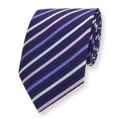 Krawatte Dunkelviolett Pastel Gestreift