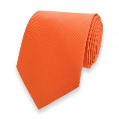 Krawatte gestreift orange fine line