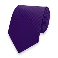 Krawatte gestreift dunkelviolett fine line