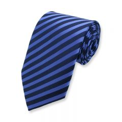 Krawatte gestreift dunkelblau blau