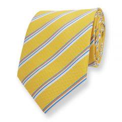 Krawatte Gelb Gestreift