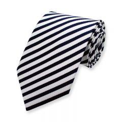 Krawatte gestreift schmal marineblau weiß