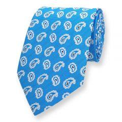 Krawatte Himmelblau Paisley