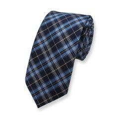 Krawatte Blau Hellblau Kariert