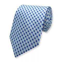 Krawatte kariert blau weiß