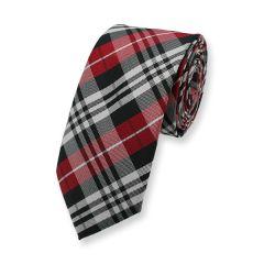 Krawatte rot schwarz weiß kariert