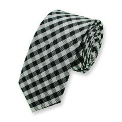 Krawatte schwarz weiß kariert