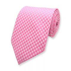 Krawatte kariert rosa weiß