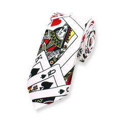 Kartenspiel Krawatte schwarz weiß schmal