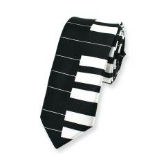 Klavier Krawatte schwarz weiß schmal