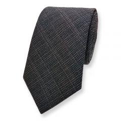 Krawatte Leinen graphit melange