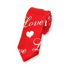 Krawatte rot liebe schmal